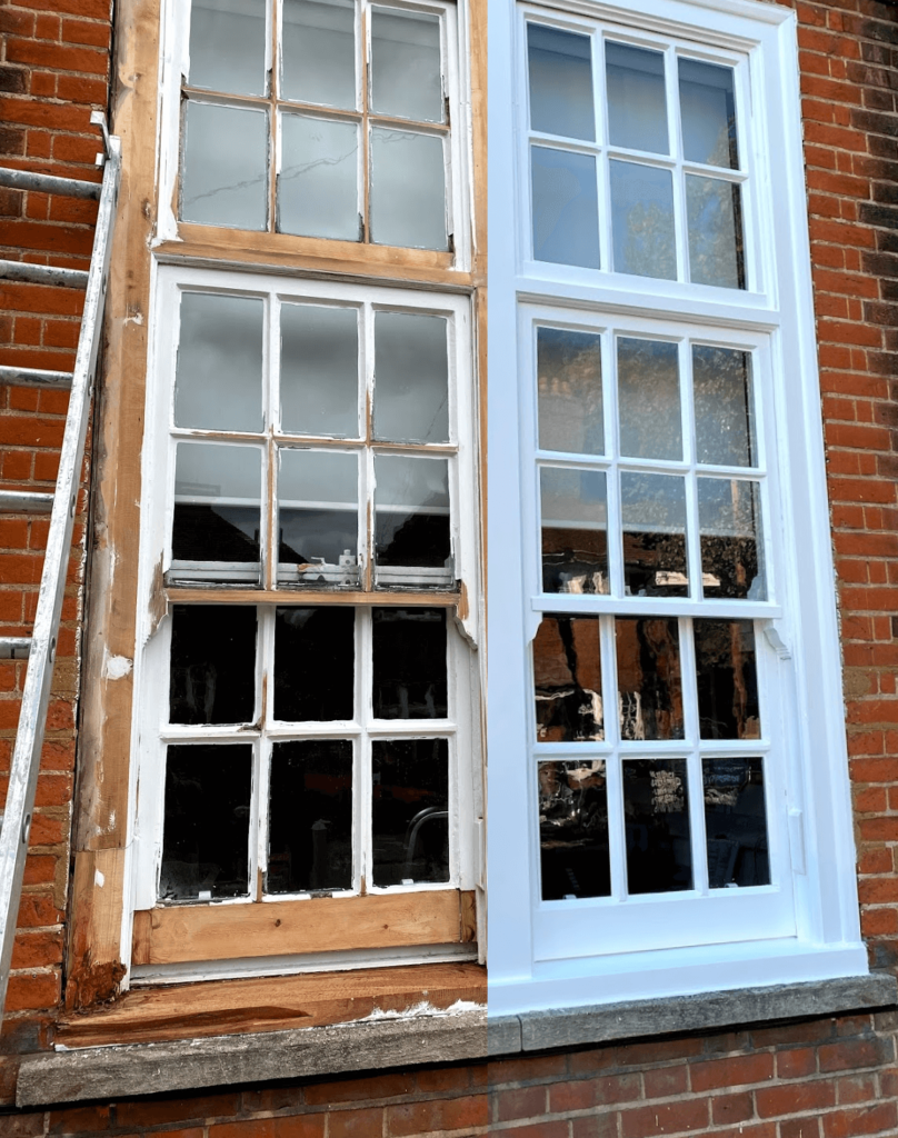Wooden windows restoration
