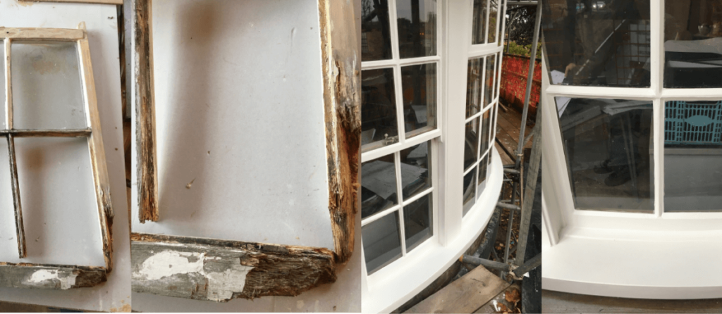 wooden window repair essex