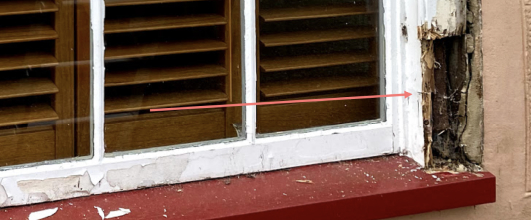 sash window jamb