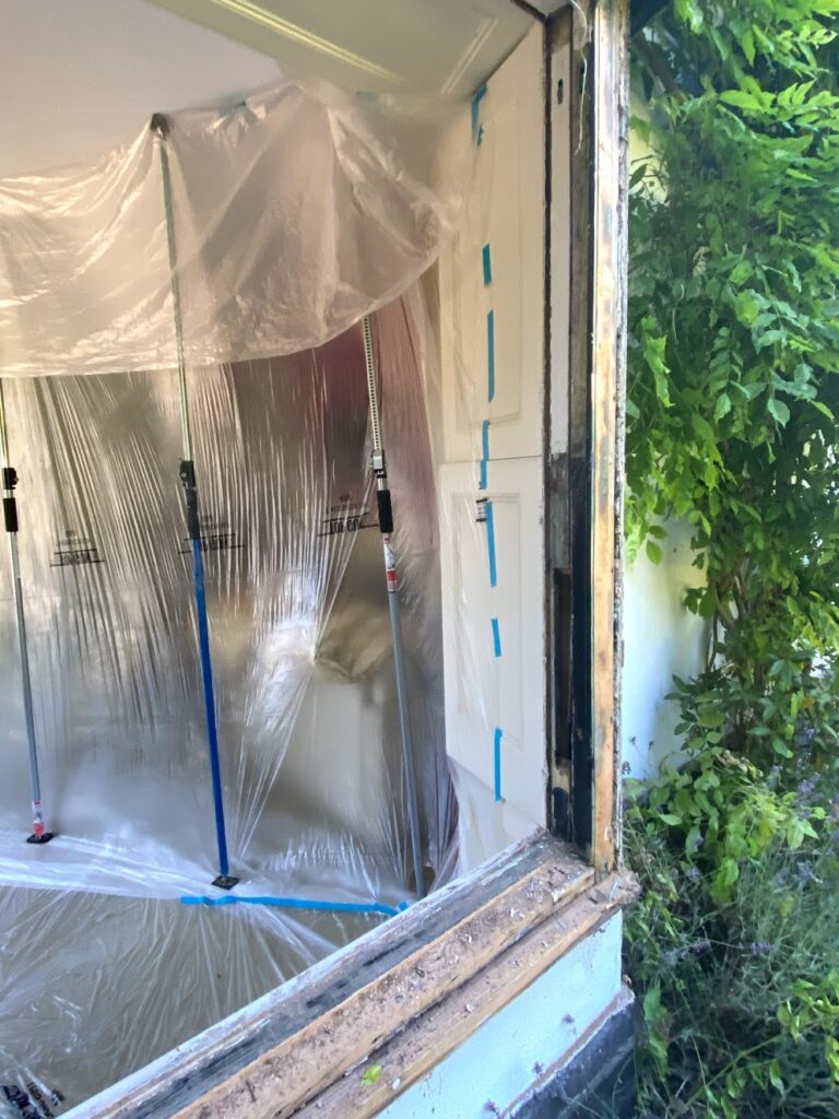 replacement of rotten wood in frames