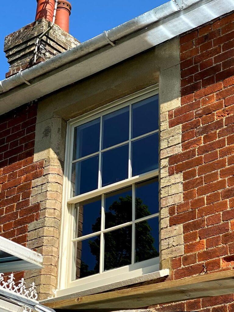 Double glazing old sash windows