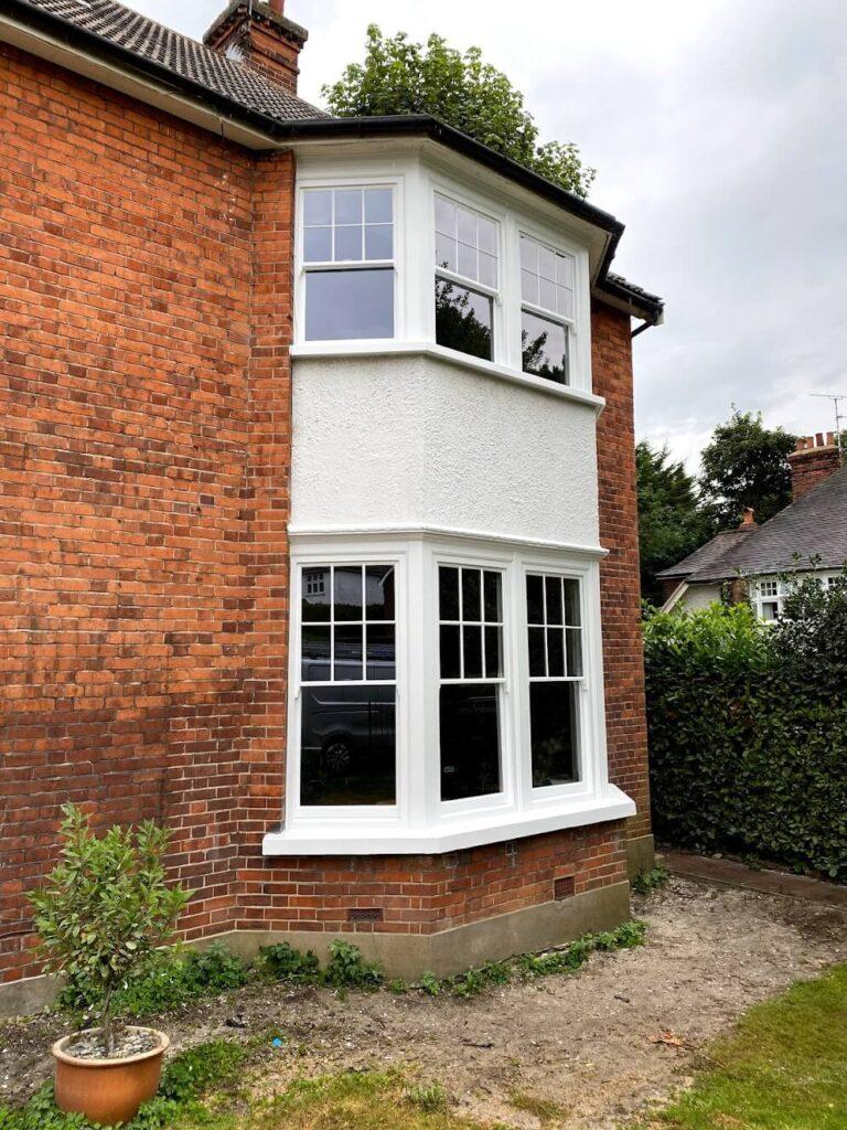 double glazing retrofitting bay window