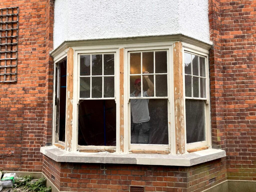 how to install double glazing into the original window